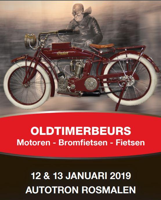 Oldtimerbeurs Motoren, fietsen en bromfietsen.